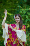 Magenta Ballerina Style Caftan in Sunflower Sweet