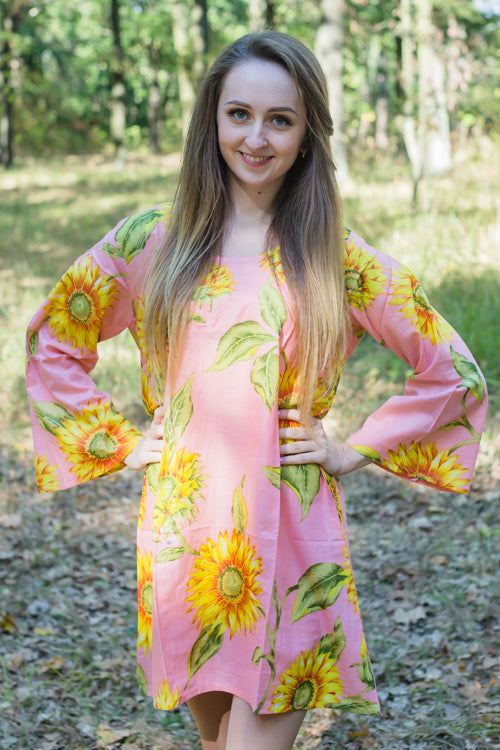 Pink Bella Tunic Style Caftan in Sunflower Sweet Pattern|Pink Bella Tunic Style Caftan in Sunflower Sweet Pattern|Sunflower Sweet