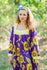 Purple Fire Maiden Style Caftan in Sunflower Sweet Pattern|Purple Fire Maiden Style Caftan in Sunflower Sweet Pattern|Sunflower Sweet
