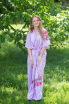 Lilac Best of both the worlds Style Caftan in Swirly Floral Vine Pattern