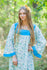 Light Blue Fire Maiden Style Caftan in Tiny Blossoms Pattern|Light Blue Fire Maiden Style Caftan in Tiny Blossoms Pattern|Light Blue Fire Maiden Style Caftan in Tiny Blossoms Pattern