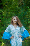 Light Blue Ballerina Style Caftan in Tiny Blossoms