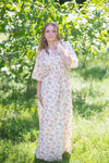 Light Yellow Best of both the worlds Style Caftan in Tiny Blossoms Pattern
