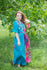 Teal Best of both the worlds Style Caftan in Vibrant Foliage Pattern|Teal Best of both the worlds Style Caftan in Vibrant Foliage Pattern|Vibrant Foliage