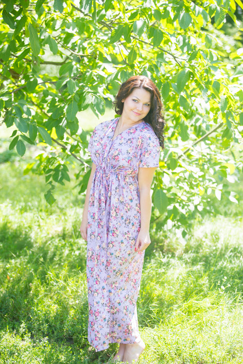Lilac Beach Days Style Caftan in Vintage Chic Floral|Vintage Chic Floral|Lilac Beach Days Style Caftan in Vintage Chic Floral