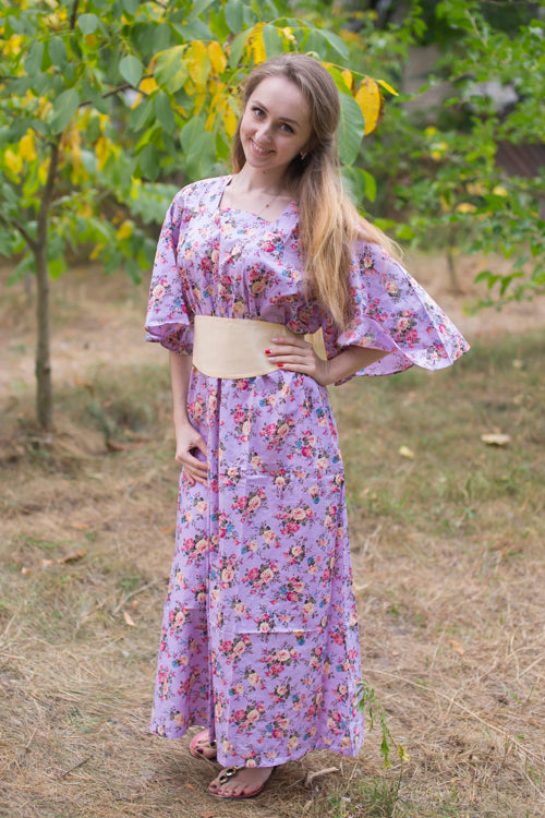 Lilac Beauty, Belt and Beyond Style Caftan in Vintage Chic Floral