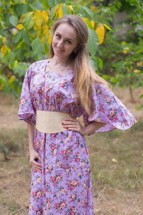 Lilac Beauty, Belt and Beyond Style Caftan in Vintage Chic Floral|Lilac Beauty, Belt and Beyond Style Caftan in Vintage Chic Floral|Vintage Chic Floral