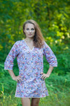 Lilac Sun and Sand Style Caftan in Vintage Chic Floral Pattern
