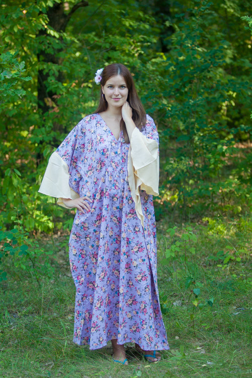 Lilac Ballerina Style Caftan in Vintage Chic Floral