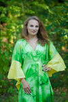 Green Ballerina Style Caftan in Watercolor Splash