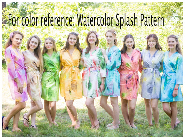 Teal Beach Days Style Caftan in Watercolor Splash