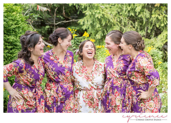 Purple Bridesmaids Robes|REGULAR FABRICS2|A SERIES FABRICS|A SERIES ROBES|A SERIES|A SERIES2