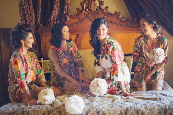 Brown Bridesmaids Robes|D SERIES|D SERIES 2|BRIGHT ROBES|PASTEL ROBES|SHALIMAR ROBES|BIG FLOWER ROBES|BIG FLOWER ROBES2|BIG FLOWER2