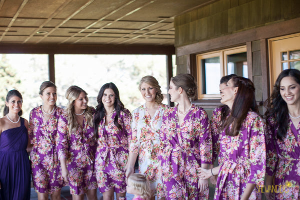 Purple Bridesmaids Robes|C series Collage|BRIGHT ROBES|PASTEL ROBES|SHALIMAR ROBES