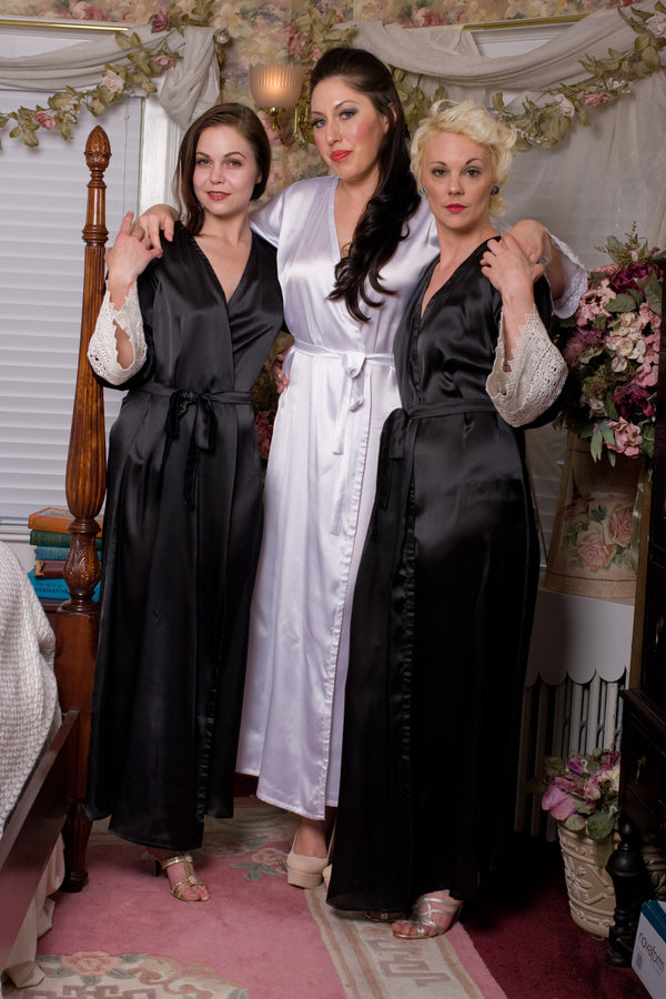 Ankle Length Satin Robe