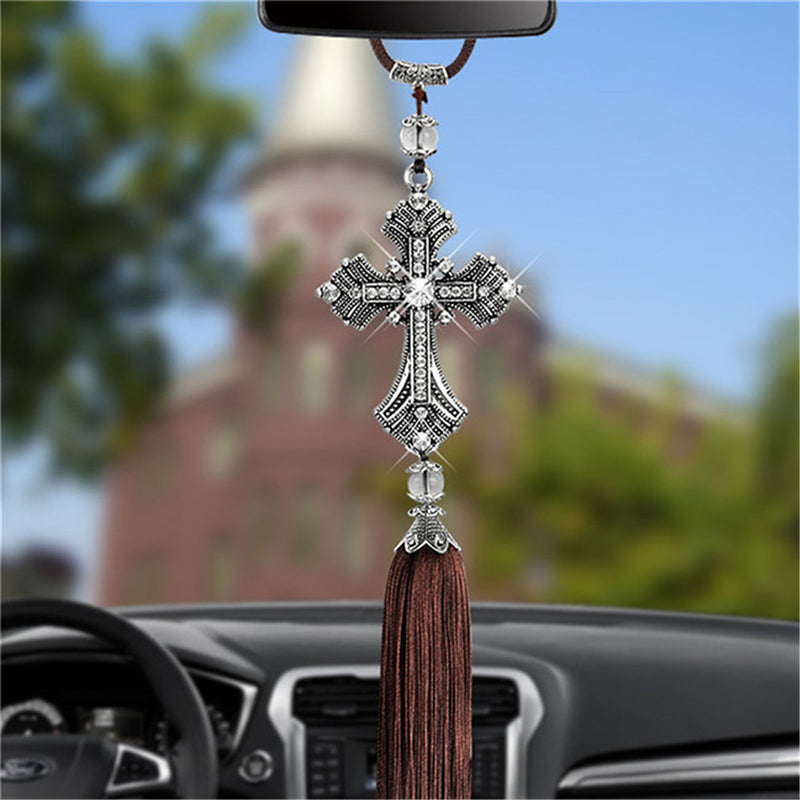 Car Pendant Diamond Crystal Cross