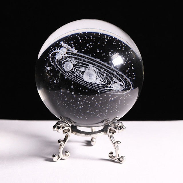 Laser Engraved 3D Solar System New 80mm