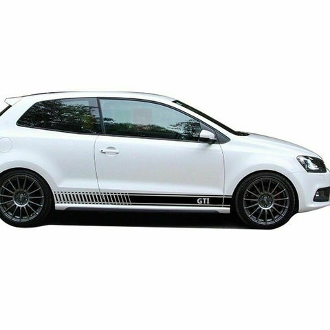 VW Volkswagen GTI Side Sticker Car Decal Pair Polo 6R 6C Black