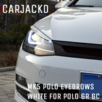 VW Polo MK5 Eyebrows Eyelids *WHITE* ABS Trim GTI 6R 6C