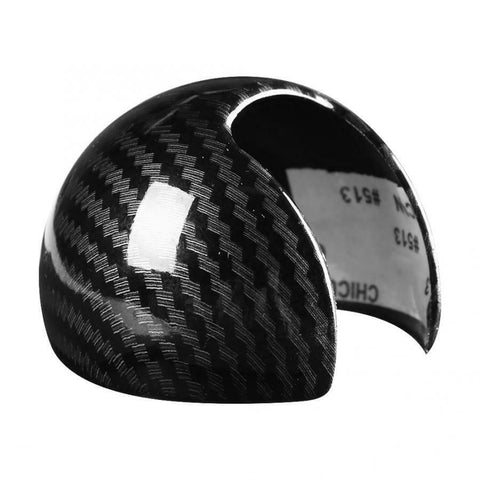 Carbon Fiber Style ABS Car Gear Shift Knob Head Cover Trim for Audi S-Tronic DSG