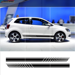 Sport Racing Stripes Car Styling Door Side Skirt Sticker Auto Body Vinyl Decals