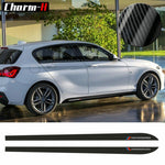 M Performance Side Skirt Sill Stripe Decals Stickers for BMW 1 Series F20 F21