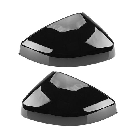 Gloss Black Audi A3 Side Wing Mirror Covers Caps Replacement 2013 - 2019