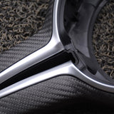 BMW Steering Wheel Exposed Carbon Fibre