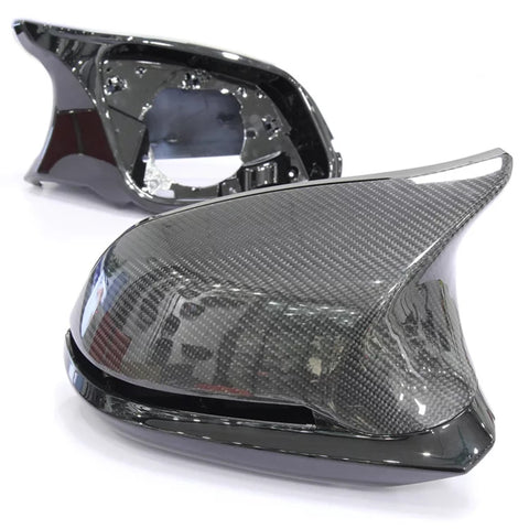 BMW F Series M3/M4 Style Carbon Fibre Mirror Cover Units
