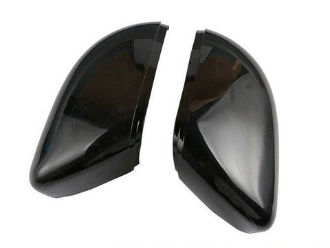 VW Scirocco Wing Mirror Cover Replacement Gloss Black Fits: 2009 - 2017