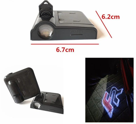 Seat Led Car Door Logo Projector Light Seat FR Battery Powered Easy Installation