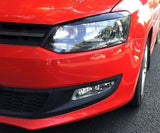 VW Polo MK5 Eyelid Brow Light Lid Cover ABS Trim GTI 6R 6C