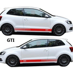 VW Volkswagen GTI Side Sticker Car Decal Pair Polo 6R 6C Choose Red/White/Black
