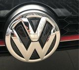 VW Rear Emblem Logo Carbon Fibre Sticker Inserts
