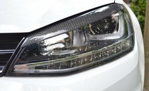 VW Golf MK7 / MK7.5 Eyelid Eyebrow Carbon Fibre Headlight Trim