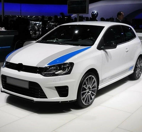 VW Volkswagen R/Rline WRC Car Sticker Decal Set Polo 6R 6C Bonnet & Side Skirts
