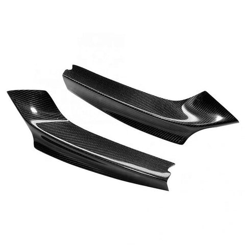 Dry Carbon Fiber Car Front Bumper Lip Splitter For BMW 2 Series F22 M Tech 2012-2015
