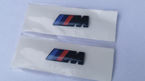 Gloss Black BMW Side Wing M Badges