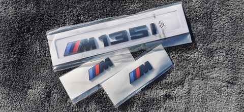 Gloss Black BMW M135i + Wing Badge Bundle