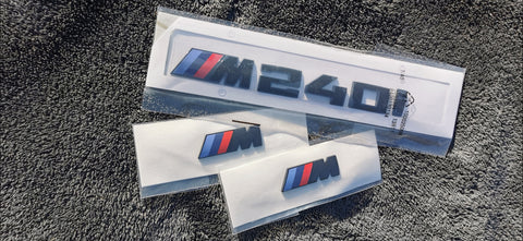 Gloss Black BMW M240i + Wing Badge Bundle