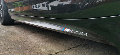 1 Series M Performance Side Skirt Vinyl Decals