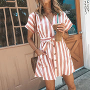 Adoradress Fashion Stripe Short Sleeve Casual Dress