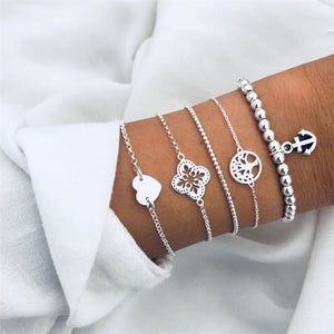 Fashion Wild Hollow Anchor Bracelet