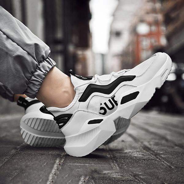 Korean Style Fashion Easy Matching Breathable Contrast Color Sneaker