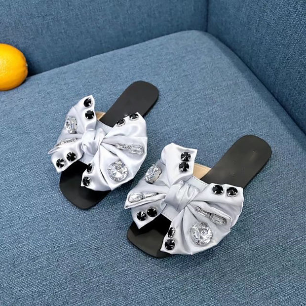 Women's Fashion Bowknot Rhinestone Flat Shoes