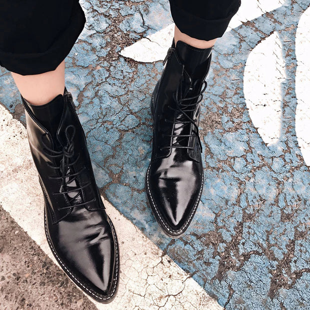 Low Heel And Casual Low Women Solid Color Boots