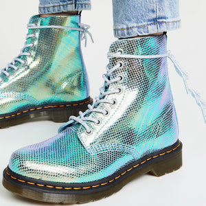 Punk style ladies polychromatic low-heel martin boots