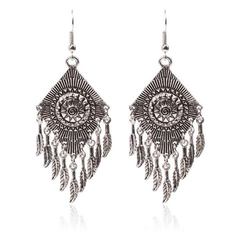 Vintage ethnic pattern earrings