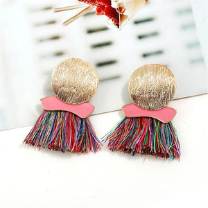 Fashion   Bohemian Tassel Wax Earrings