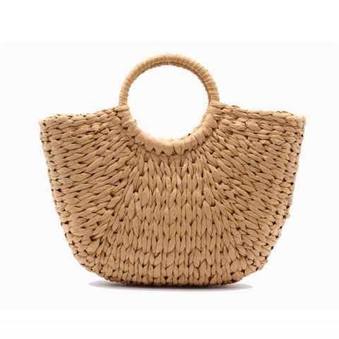Holiday wind wheat straw weave handbag
